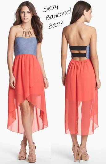Cutout High Low Dress