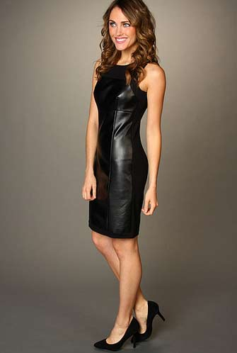DKNYC Faux Leather Dress