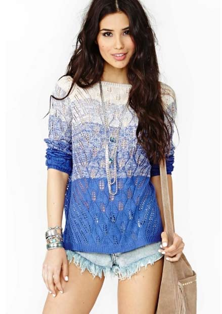 Electric Dusk Knit Top